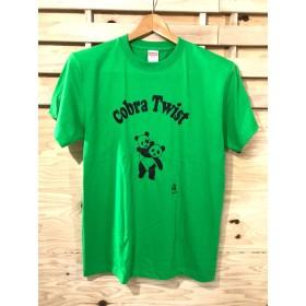 送料無料コブラツイストパンダTシャツ緑SM.L.XL