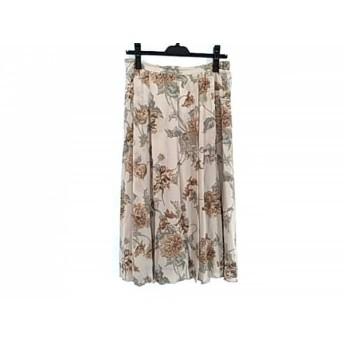 【中古】 バーバリーズ Burberry's ロングスカート サイズ13 L レディース ベージュ マルチ 花柄