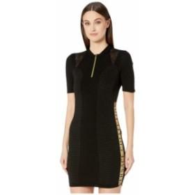 ヴェルサーチ レディース ワンピース トップス Zip Knit Taping Detail Dress Black
