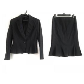 【中古】 マテリア MATERIA スカートスーツ サイズ38 M レディース 黒 フリル/肩パッド