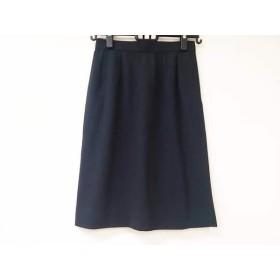 【中古】 イヴサンローラン YvesSaintLaurent スカート レディース 美品 黒 ライトグレー ストライプ