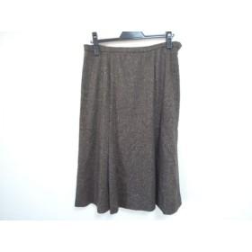 【中古】 レリアン Leilian ロングスカート サイズ13 L レディース ダークブラウン