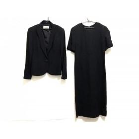 【中古】 ジュンアシダ JUN ASHIDA ワンピーススーツ サイズ9 M レディース 黒