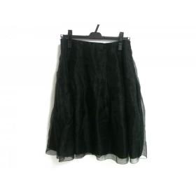 【中古】 アマカ AMACA スカート サイズ40 M レディース 黒