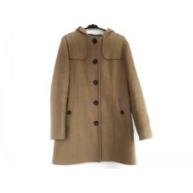 【中古】 バーバリーロンドン Burberry LONDON コート サイズ38 L レディース ライトブラウン 冬物