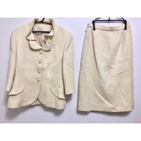 【中古】 ジュンアシダ JUN ASHIDA スカートスーツ サイズ9 M レディース アイボリー