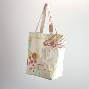 tote bag 朱色の風 厚手綿帆布トートバッグ