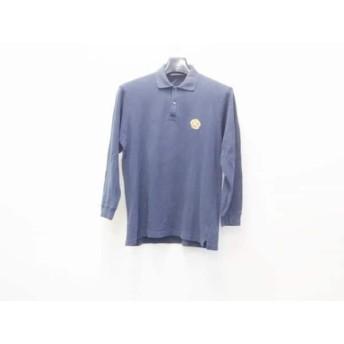 【中古】 バーバリーズ Burberry's 長袖ポロシャツ メンズ ダークネイビー