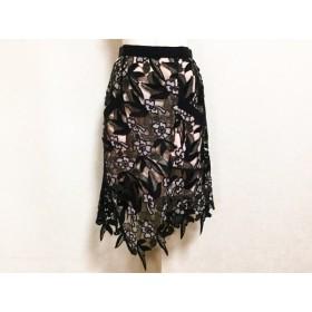 【中古】 セルフポートレイト self-portrait スカート サイズUK6 US2 レディース 黒 ピンク