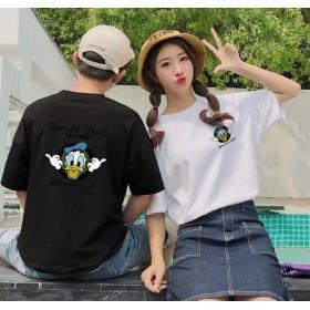韓国ファッション Tシャツ 可愛いミッキープリント★ペアルックカップルtシャツ ミッキー Tシャツ ディズニー Tシャツ 半袖 レディース メンズカップル