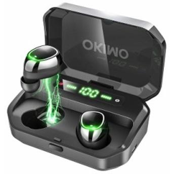 【2019最新版 LEDディスプレイ Bluetooth イヤホン 】 ワイヤレスイヤホン 電池残量インジケーター付き イヤホン Hi-Fi 高音質 AAC対応