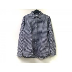 【中古】 マッキントッシュフィロソフィー 長袖シャツ サイズ42 L メンズ 美品 白 ブルー 黒 チェック柄