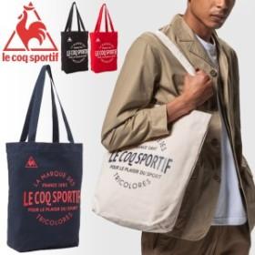 トートバッグ ルコック le coq sportif キャンバス コットンバッグ バッグ B4サイズ対応 ロゴ シンプル かばん 鞄/QMANJA31