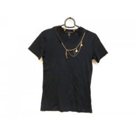 【中古】 ルイヴィトン LOUIS VUITTON 半袖Tシャツ サイズXS レディース 黒