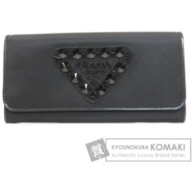 328af019377a プラダ PRADA ビーズモチーフ 長財布(小銭入れあり) ナイロン素材 レディース 中古