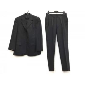 【中古】 ブルックスブラザーズ BrooksBrothers シングルスーツ サイズ36SHT 30W メンズ 黒 ストライプ
