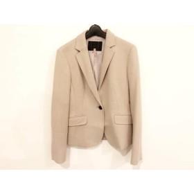 【中古】 アンタイトル UNTITLED ジャケット サイズ3 L レディース 美品 アイボリー