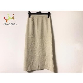 ユキトリイ YUKITORII ロングスカート サイズ9 M レディース 美品 ベージュ   スペシャル特価 20190809