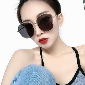 ★実物画像あり!新作★韓国ファッション UV対策必須アイテム フレームフラットサングラスコーデのポイントにも!UV対策 レディース サングラス メガネ