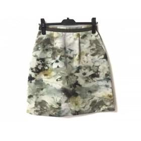 【中古】 ジャスグリッティー スカート サイズ2 M レディース ライトグリーン カーキ マルチ 花柄