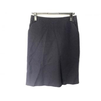 【中古】 フィロディセタ Filo di Seta スカート サイズ42 L レディース ネイビー 黒