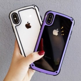 送料0★4色 縁どり シンプル クリア iPhone 6 iPhone7 iPhone7ケース iPhone8 ケース iPhone x ケース iPhoneケース