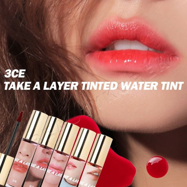 ★NEW/韓国コスメ/最新作/クラシック/リップ★3CEテイク ア レイヤー ティンテッド ウォーター ティント TAKE A LAYER TINTED WATER TINT