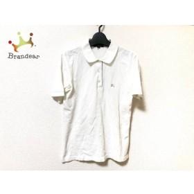バーバリーロンドン 半袖ポロシャツ サイズ38 L レディース 白×ベージュ チェック柄   スペシャル特価 20190803