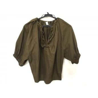 【中古】 エリン ELIN 半袖カットソー サイズ38 M レディース 美品 ダークグリーン