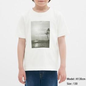 (GU)BOYSグラフィックT(半袖)(フォトプリント) OFF WHITE 110