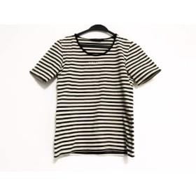 【中古】 ピンクハウス 半袖Tシャツ サイズM レディース 黒 ブラウン ベージュ ボーダー/COLLECTION