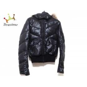 ブラックバイマウジー ダウンジャケット サイズ1 S レディース 黒×ライトブラウン ファー/冬物 新着 20190505