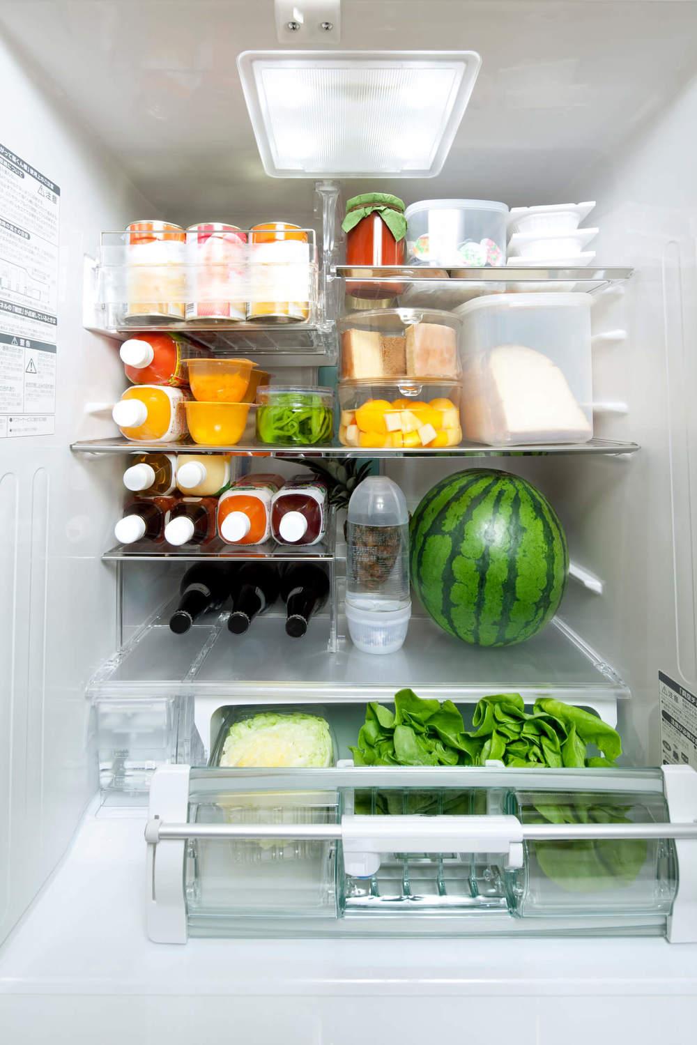 冷蔵庫の保管した食品