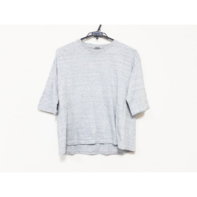 【中古】 オーラリー AURALEE 七分袖Tシャツ サイズ1 S レディース グレー