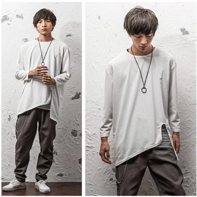 Tシャツ - MinoriTY アシメトリーカットワークロンT