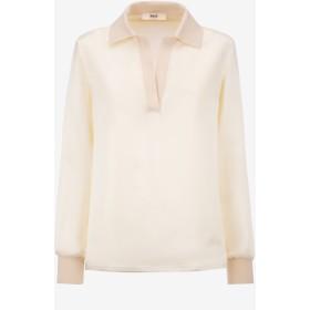 Washed Satin Shirt ホワイト
