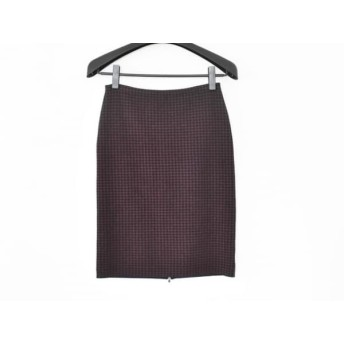 【中古】 セオリー theory 巻きスカート サイズS レディース 美品 ボルドー 黒 ジップアップ
