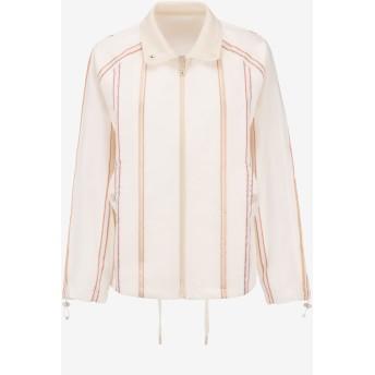 Striped Satin Jacket ホワイト