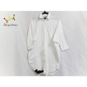 b37c30c011a95 ツモリチサト 長袖シャツブラウス サイズ2 M レディース 白 cats ロング丈 透け感