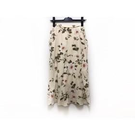 【中古】 インゲボルグ INGEBORG ロングスカート サイズS レディース アイボリー マルチ 花柄