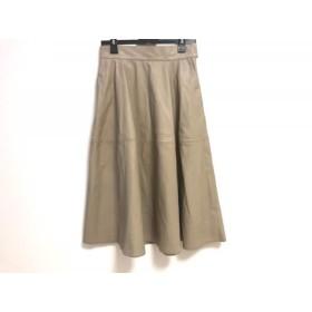 【中古】 セルフォード CELFORD ロングスカート サイズ38 M レディース 美品 ベージュ フェイクレザー