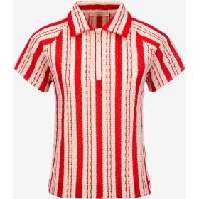 Woven Striped Polo Shirt マルチカラー