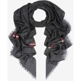 Edelweiss Jacquard Stole ブラック