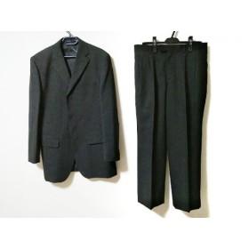【中古】 コムサイズム COMME CA ISM シングルスーツ サイズXL メンズ 黒 グレー チェック柄