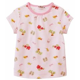 [ベビー]ミキハウス ホットビスケッツ Tシャツ ピンク ベビー・キッズウェア ベビー(70~95cm) トップス(女児) (158)