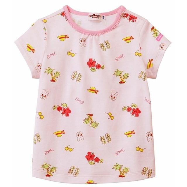 [ベビー]ミキハウス ホットビスケッツ Tシャツ ピンク ベビー・キッズウェア ベビー(70~95cm) トップス(女児) (151)