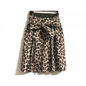 【中古】 エストネーション スカート サイズ38 M レディース 美品 ベージュ カーキ ダークブラウン
