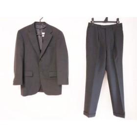【中古】 ニューヨーカー NEW YORKER シングルスーツ メンズ ダークグレー ネーム刺繍