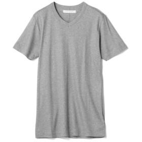 ESTNATION / テレコVネックTシャツ グレー/MEDIUM(エストネーション)◆メンズ Tシャツ/カットソー