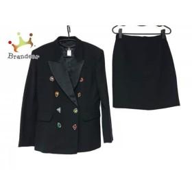 f785d8bff178 ケンゾー KENZO スカートスーツ サイズ40 M レディース 美品 黒×マルチ ビジュー 新着 20190505